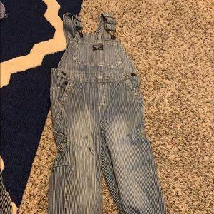 Osh Kish B'Gosh striped overalls